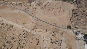 Μήκος σε πόδηα κηφήνων μεγάλου Sphinx Giza Αίγυπτος απόθεμα βίντεο