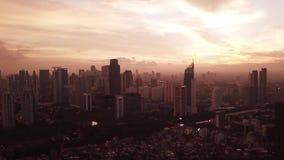 Μήκος σε πόδηα Timelapse των κτιρίων γραφείων στην Τζακάρτα απόθεμα βίντεο