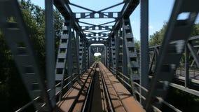 Μήκος σε πόδηα άποψης από ένα τραίνο απόθεμα βίντεο