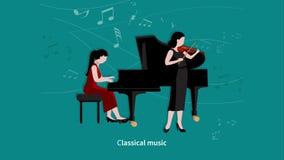 Μήκος σε πόδηα ζωτικότητας σκηνών μουσικών ελεύθερη απεικόνιση δικαιώματος