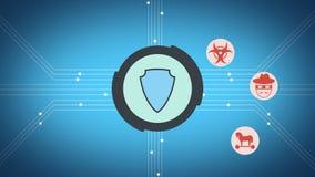 Μήκος σε πόδηα θέματος ασφάλειας Διαδικτύου ελεύθερη απεικόνιση δικαιώματος