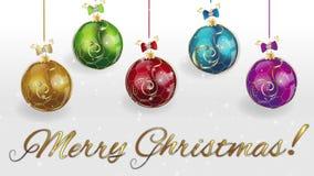 Μήκος σε πόδηα Χαρούμενα Χριστούγεννας απόθεμα βίντεο