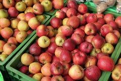 μήλα ακριβώς μερικά Στοκ Εικόνες