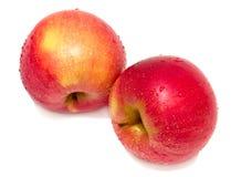 μήλα δύο υγρά Στοκ Φωτογραφίες