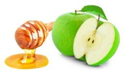 Μήλα και μέλι Στοκ Εικόνες
