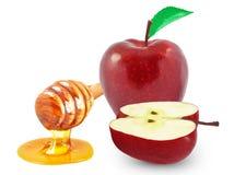 Μήλα και μέλι Στοκ εικόνες με δικαίωμα ελεύθερης χρήσης