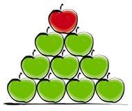 μήλα που συσσωρεύονται Στοκ Εικόνα