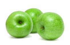 μήλα πράσινα τρία Στοκ Εικόνες