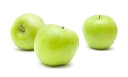 μήλα πράσινα τρία Στοκ φωτογραφία με δικαίωμα ελεύθερης χρήσης