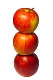 μήλα τρία στοκ φωτογραφίες