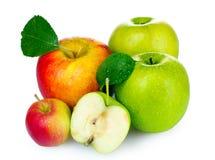 μήλα φρέσκα πολλά ώριμα Στοκ φωτογραφία με δικαίωμα ελεύθερης χρήσης