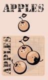 μήλα διανυσματική απεικόνιση