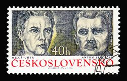 Μήλος Uher και Anton Sedlacek, διοικητές ανταρτών και μαχητές στοκ εικόνες