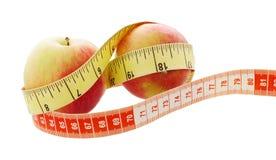 Μήλο έννοιας ικανότητας Μήλο με τη μέτρηση Στοκ Φωτογραφίες