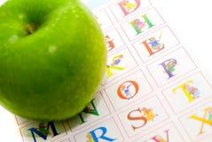 μήλο αλφάβητου Στοκ φωτογραφίες με δικαίωμα ελεύθερης χρήσης