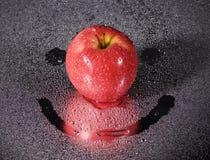 μήλο ευτυχές Στοκ φωτογραφίες με δικαίωμα ελεύθερης χρήσης