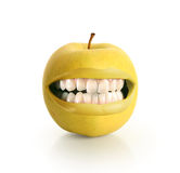 μήλο κίτρινο Στοκ Εικόνα