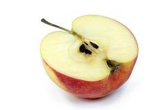 μήλο κατά το ήμισυ κόκκινο Στοκ Εικόνες