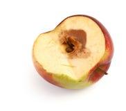μήλο κατά το ήμισυ σάπιο στοκ φωτογραφίες