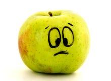 μήλο λυπημένο Στοκ φωτογραφία με δικαίωμα ελεύθερης χρήσης