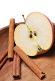 Μήλο με την κανέλα Στοκ Φωτογραφία