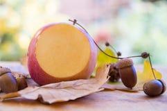 Μήλο περικοπών με άλλα decorationss Στοκ Εικόνες