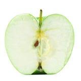 μήλο που απομονώνεται κατά το ήμισυ στοκ φωτογραφία