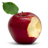 μήλο που δαγκώνεται Στοκ Εικόνες