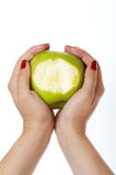 μήλο που δαγκώνεται στοκ φωτογραφίες