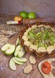 μήλο που κάνει tart2 Στοκ εικόνες με δικαίωμα ελεύθερης χρήσης