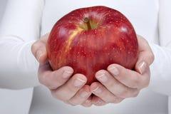 μήλο που κρατά την κόκκινη &gamm στοκ εικόνα με δικαίωμα ελεύθερης χρήσης