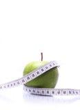 μήλο που μετρά την ταινία Στοκ Εικόνα