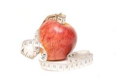 μήλο που μετρά το κώλυμα Στοκ Εικόνα