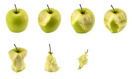 μήλο που τρώει το σύνολο Στοκ Φωτογραφίες