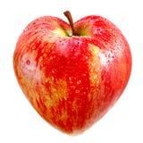 μήλο ως κόκκινο καρδιών Στοκ φωτογραφίες με δικαίωμα ελεύθερης χρήσης
