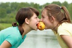 μήλο δύο Στοκ Φωτογραφία
