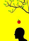 μήλο Newton s Στοκ φωτογραφία με δικαίωμα ελεύθερης χρήσης