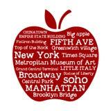 Μήλο NYC Στοκ φωτογραφία με δικαίωμα ελεύθερης χρήσης