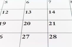 Μήνας εβδομάδας ημέρας αρμόδιων για το σχεδιασμό ημερολογιακής ημερομηνίας Στοκ φωτογραφίες με δικαίωμα ελεύθερης χρήσης