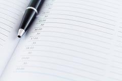 Μήνας εβδομάδας ημέρας αρμόδιων για το σχεδιασμό ημερολογιακής ημερομηνίας με τη μαύρη μάνδρα στοκ εικόνες