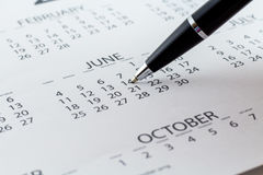 Μήνας εβδομάδας ημέρας αρμόδιων για το σχεδιασμό ημερολογιακής ημερομηνίας στοκ φωτογραφίες