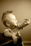 μήνας εννέα αγοριών παλαιό&sigma Στοκ φωτογραφία με δικαίωμα ελεύθερης χρήσης
