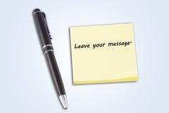 μήνυμα άδειάς σας Στοκ φωτογραφία με δικαίωμα ελεύθερης χρήσης
