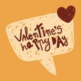 Μήνυμα αγάπης στη λεκτική φυσαλίδα Στοκ Εικόνες