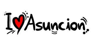 Μήνυμα αγάπης της Asuncion Στοκ Εικόνες