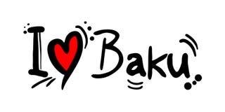 Μήνυμα αγάπης του Μπακού Στοκ εικόνες με δικαίωμα ελεύθερης χρήσης
