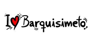 Μήνυμα αγάπης Barquisimeto Στοκ Εικόνες