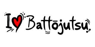 Μήνυμα αγάπης Battojutsu Στοκ φωτογραφίες με δικαίωμα ελεύθερης χρήσης