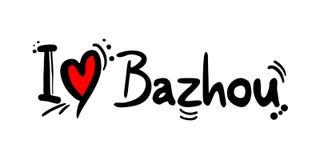 Μήνυμα αγάπης Bazhou Στοκ Εικόνες