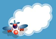 μήνυμα καρτών αεροπλάνων Στοκ φωτογραφίες με δικαίωμα ελεύθερης χρήσης